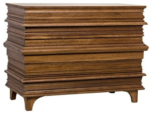 Roman  Chest, Dark Walnut