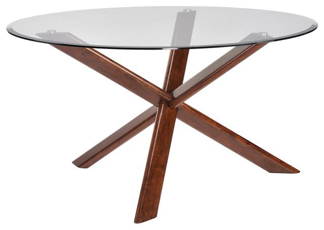 Barett Mid Century Modern Dining Table, Base Only Midcentury Dining Tables