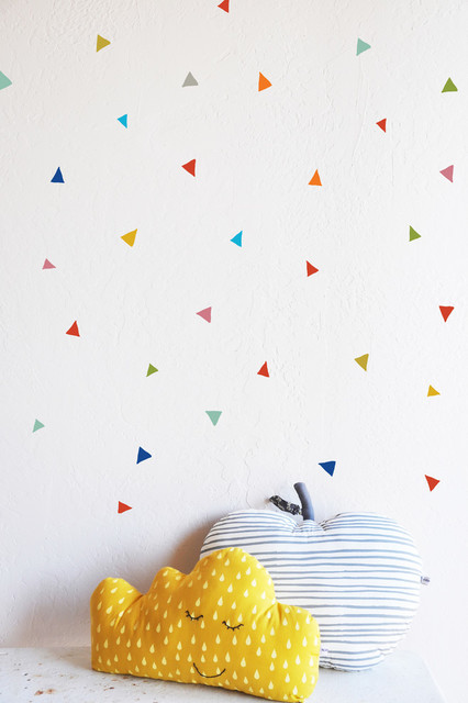 Confetti Triangle Wall Decals Set Of  Contemporary Wall - Yellow wall decals