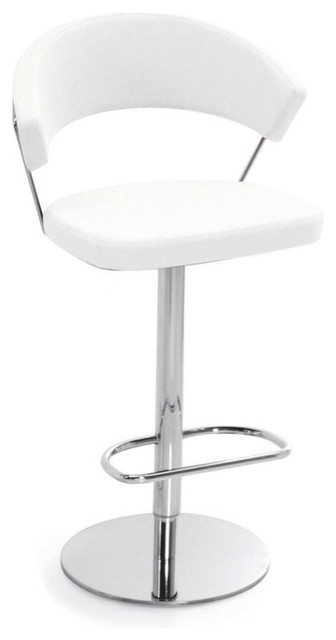 new york swiveling with gas lift bar stool leather white contemporary bar stools and. Black Bedroom Furniture Sets. Home Design Ideas
