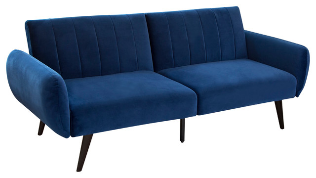 Super Abbyson Living Gina Foldable Velvet Sofa Bed Blue Caraccident5 Cool Chair Designs And Ideas Caraccident5Info