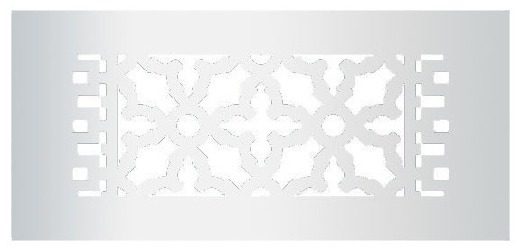 Aluminum Scroll Pattern Grille, Silver, 4x10.