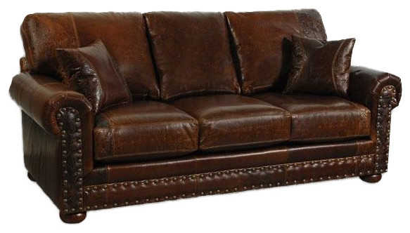 Western Style Leather Sofa Traditional Sofas