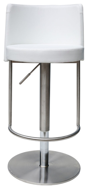 Bowery Adjustable Height Swivel Bar Stool White modern-bar-stools-and-  sc 1 st  Houzz & Bowery Adjustable Height Swivel Bar Stool - Modern - Bar Stools ... islam-shia.org
