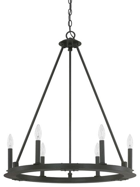 Capital Lighting 4916BI-000 Pearson 6-Light Chandelier, Black Iron