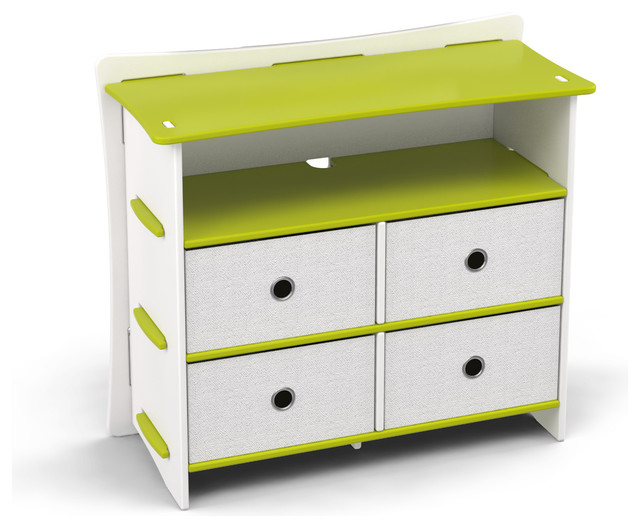 Frog 36 Dresser Lime Green And White Contemporary Kids Dressers