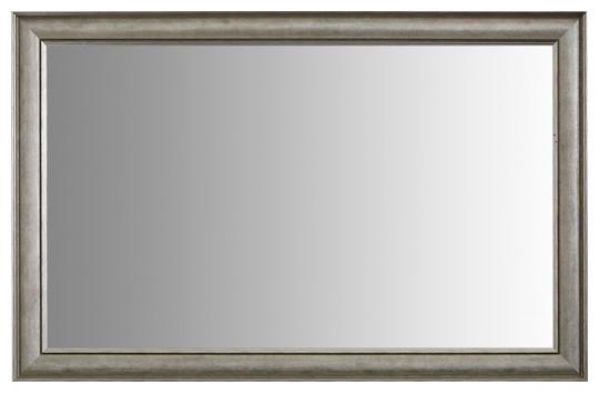 "Oxfordshire Silver Framed Mirror, 36""x54""."