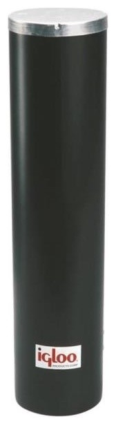 "Igloo 0000 Water Cooler Plastic Cup Dispenser 13.75""x10.38""x17"", Black."