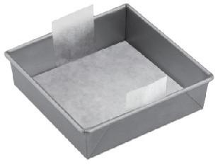 "The Smart Baker 6"" Square Parchment (24 Pack)."
