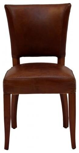 Vintage Leather Brown Chair Rustic Dining Chairs  : rustic dining chairs from www.houzz.com size 260 x 503 jpeg 19kB