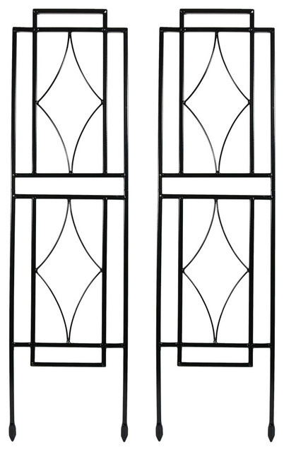 Sunnydaze 30 Contemporary Garden Trellis, Set Of 2.