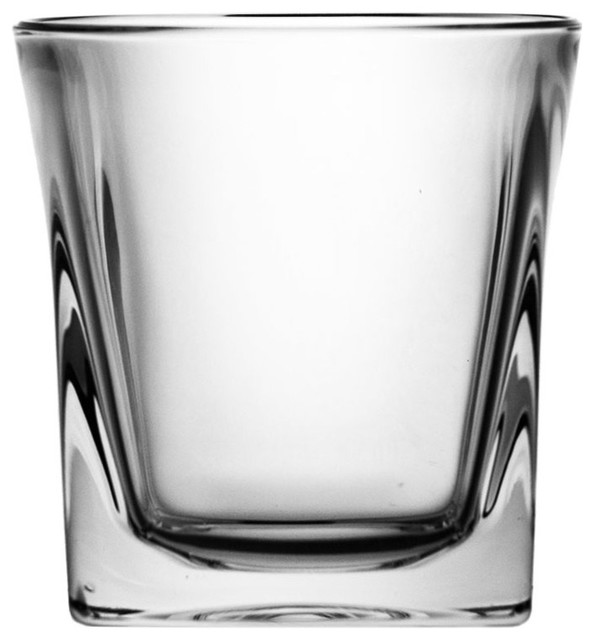 Clear Lead Crystal Whisky Glasses, Small, Set of 6