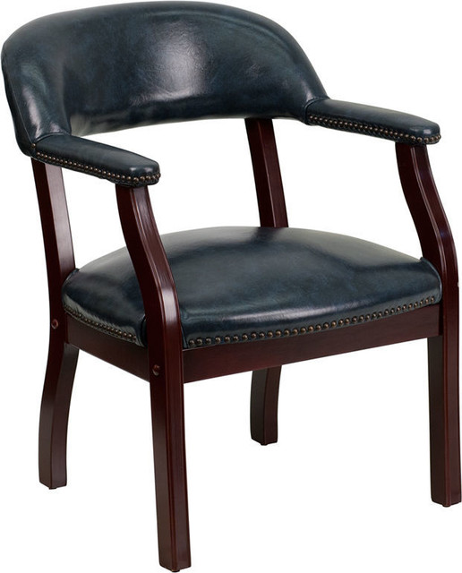 Navy Vinyl Luxurious Conference Chair.