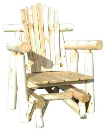 Heavy Duty Sun Lounger, White Cedar Log Outdoor Adirondack Glider Chair Rustic Adirondack Chairs By Furniture Barn Usa