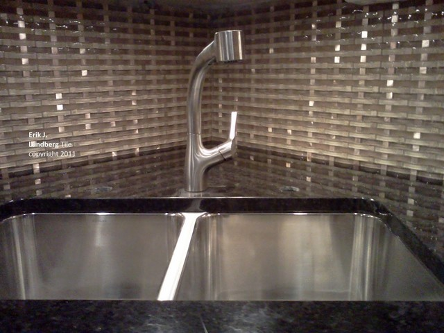 Groutless Gl Metal Basketweave Backsplash Kitchen Minneapolis