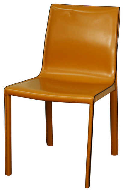 Gervin Recycled Leather Chair Contemporary Dining Chairs by