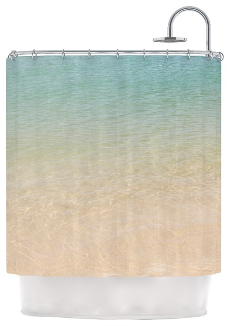 Catherine McDonald Ombre Sea Beach Photography Shower Curtain