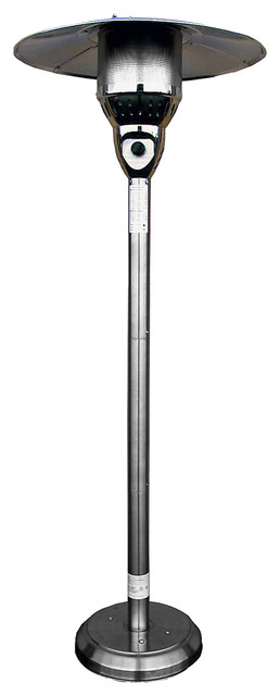 85 Natural Gas Outdoor Patio Heater, Stainless Steel.