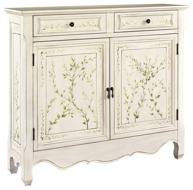White Hand Painted 2-Door Console - Traditional - Accent Chests And Cabinets - by Powell