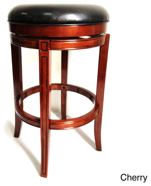 29 Inch Flared Leg Swivel Stool Contemporary Bar