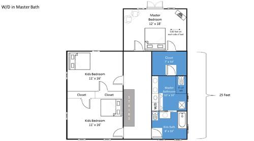 Upstairs Floor Plan Master Bath Laundry Closet