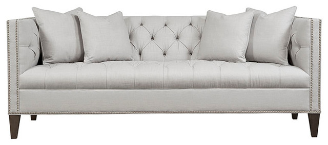 Nice Chatham Button Tufted Tight Back Sofa, Ink