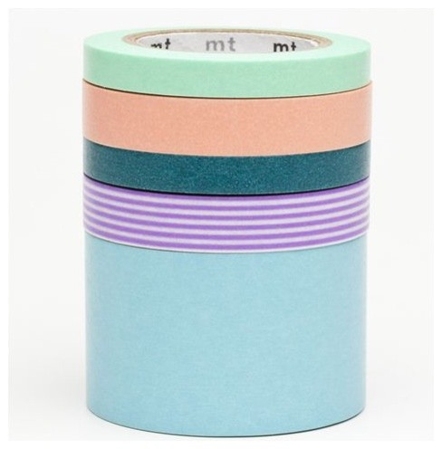Washi Masking Tape by mt, 5 pieces