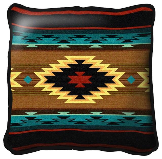 Southwest Geometric Cornflower Pillow.