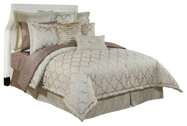 Austin Horn En Vogue Glamour Quartz 4 Piece King Comforter Set