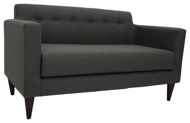 Netto Tufted Settee Sofa, Charcoal.