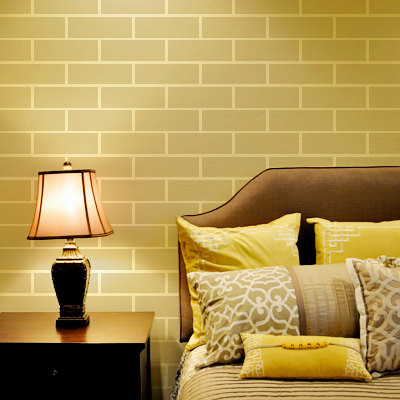 Brick Wall Stencil - Contemporary - Wall Stencils - by Cute Stencils