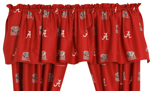 "Alabama Crimson Tide Printed Curtain Valance, 84""x15""."