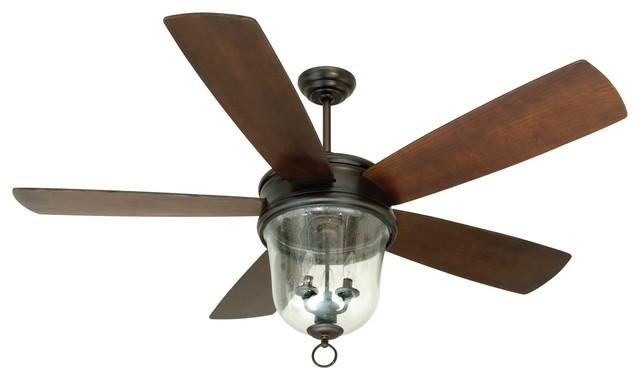 Fredericksburg 3-Light Indoor Ceiling Fans, Oiled Bronze Gilded.