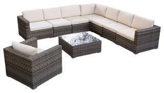 Sydney 9 Piece Sectional Sofa Set Contemporary Outdoor