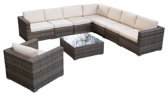 sydney 9 piece outdoor sectional sofa set tropical outdoor