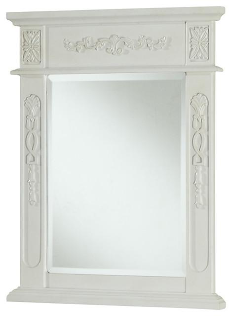 Antique White Vanity Mirror traditional-bathroom-mirrors - Elegant Lighting Danville 22