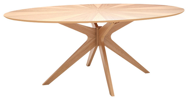 Starburst Oval Dining Table Midcentury Dining Tables By Inmod - Mid century oak dining table
