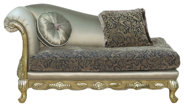 Consigned Vintage Upholstered Chaise Lounge, Vinch76.