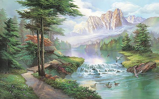 Misty Waters Mural 1618.