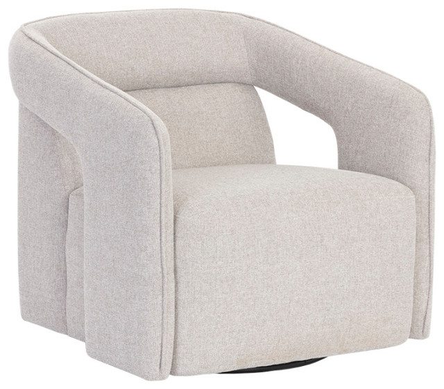 Mattox Swivel Lounge Chair Belfast Heather Grey Contemporary Armchairs And Accent Chairs By Virgil Stanis Design Houzz
