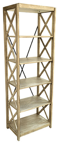 Brookline Tall Etagere 24x16x72 - Farmhouse - Display And Wall Shelves - by Zeckos