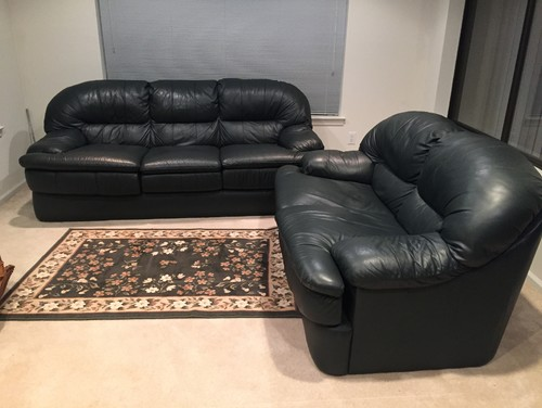 How to decorate around a dark leather couch set