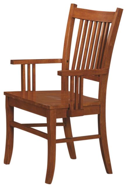 Marbrisa Slat Back Mission Arm Chair, Set Of 2.