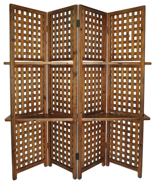 Woven 4-Panel Room Divider asian-screens-and-room-dividers - Shop Houzz Cheungs Woven 4-Panel Room Divider - Screens And Room