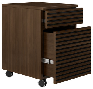 ... Drawer Rolling File Pedestal In A Warm Cognac Finish - Filing Cabinets