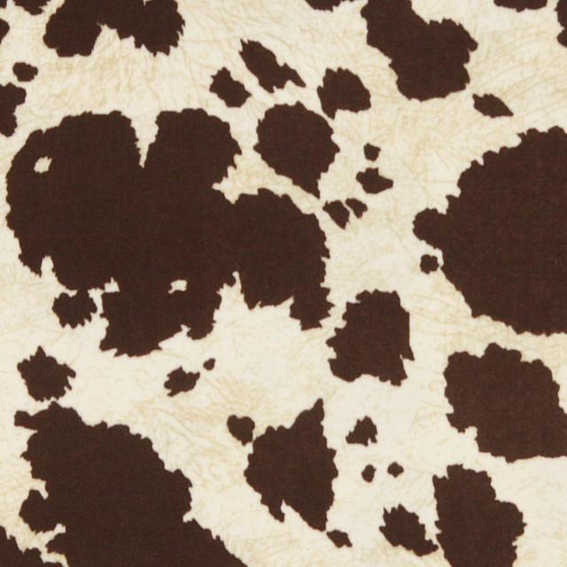 Brown Cow Animal Print Microfiber Stain Resistant