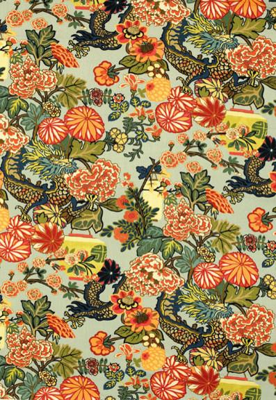 Chiang Mai Dragon asian fabric