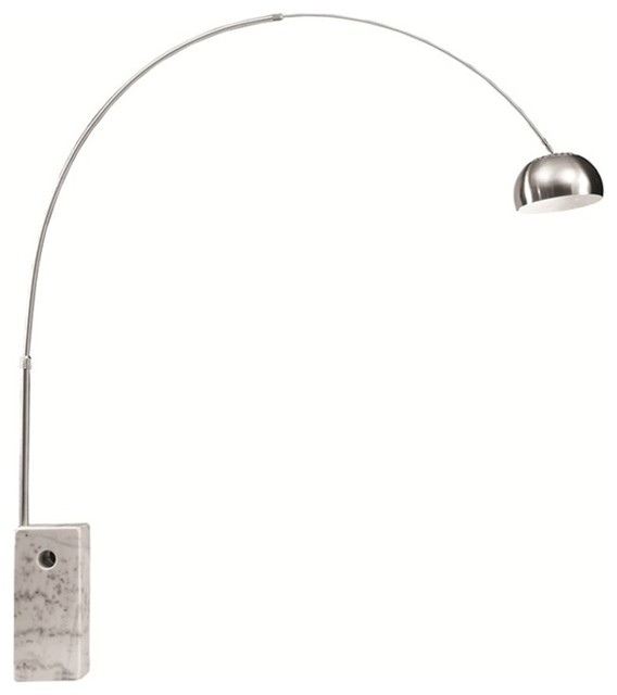 Fine Mod Imports  Arch Lamp Big Base, White