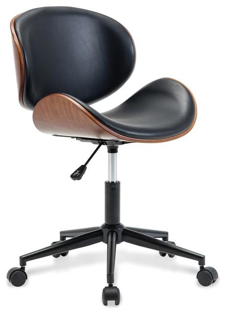 Enjoyable Mid Century Swivel Office Desk Chair Black Unemploymentrelief Wooden Chair Designs For Living Room Unemploymentrelieforg
