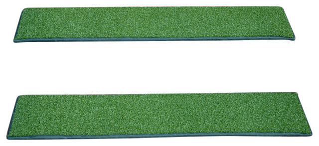 Indoor or Outdoor Non-Slip Carpet Stair Treads, Oasis Green, Set of ...